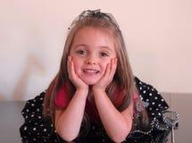 flicka som för tänker Royaltyfria Foton