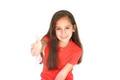flicka som hälsar little arkivfoto