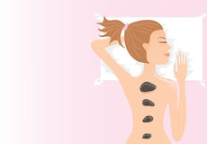 flicka som har massage Royaltyfria Bilder