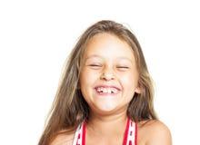 Flicka som har roligt skratta Arkivfoton