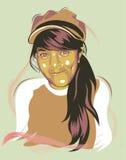 Flicka som ler i vektor Arkivfoto