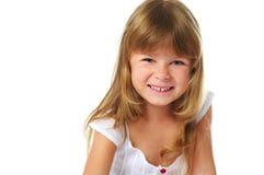 flicka som little skrattar Royaltyfri Foto