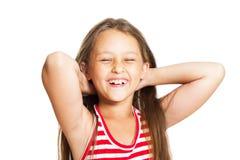 flicka som little skrattar Arkivbild