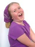 flicka som little skrattar Royaltyfria Foton