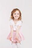 flicka som little skrattar Arkivfoto
