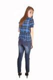flicka som plattforer tonårs- royaltyfri bild