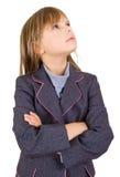 flicka som ser upp Fotografering för Bildbyråer