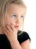 flicka som ser upp Royaltyfri Fotografi