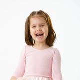 flicka som skrattar little stående Royaltyfri Bild