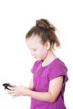 flicka som texting Royaltyfri Bild