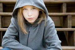 flicka utanför Royaltyfri Foto
