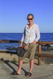 Flicka vid havet Arkivfoton