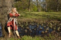 flicka viking Arkivbilder