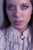 flicka w för blåa ögon Royaltyfri Bild