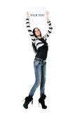 flickaaffisch Fotografering för Bildbyråer