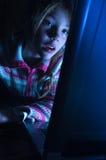flickaanteckningsbok arkivfoto