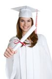 flickaavläggande av examen Royaltyfria Bilder