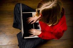 flickabärbar dator royaltyfri foto