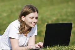 flickabärbar dator Fotografering för Bildbyråer