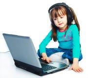 flickabärbar dator little Fotografering för Bildbyråer