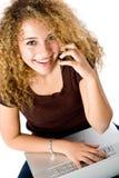 flickabärbar datortelefon Royaltyfria Bilder