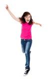 flickabanhoppningbarn Fotografering för Bildbyråer