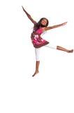 flickabanhoppningbarn Royaltyfria Bilder