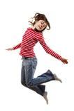 flickabanhoppningbarn Arkivfoto