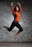 flickabanhoppningsportswear Royaltyfri Foto
