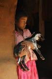 Flickabarn i Indien Fotografering för Bildbyråer