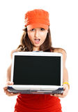 flickabärbar dator Royaltyfria Foton