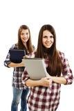 flickadeltagare två Fotografering för Bildbyråer