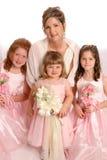 flickadeltagarebröllop Fotografering för Bildbyråer