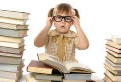 flickaexponeringsglas för svarta böcker little som slitage Arkivbild