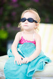 flickaexponeringsglas little simning Royaltyfri Foto
