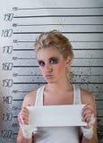 flickafängelse royaltyfria bilder