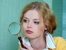flickaförstoringsapparat Royaltyfri Fotografi