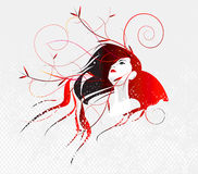 flickafjädervektor Royaltyfria Bilder
