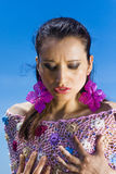 Flickaflamenco och mode (roma) Arkivbild