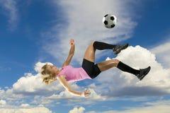 flickafotboll Fotografering för Bildbyråer