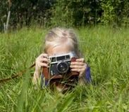 Flickafotograf Arkivfoto