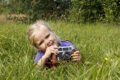 Flickafotograf Arkivfoton