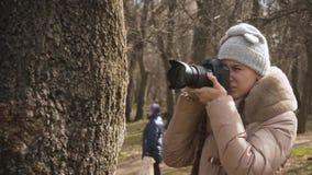 Flickafotograf arkivfilmer