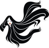 Flickaframsida och trevligt hår vektor illustrationer