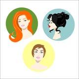 Flickafrisyrståenden rånar hår Royaltyfri Bild