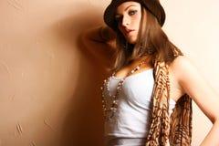 flickaglamourdeltagare Royaltyfri Fotografi