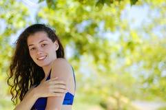 flickagreenleaves Fotografering för Bildbyråer