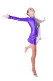 Flickagymnast arkivfoto