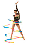 flickagymnaster arkivbilder