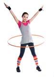 flickagymnastikcirkel royaltyfria bilder